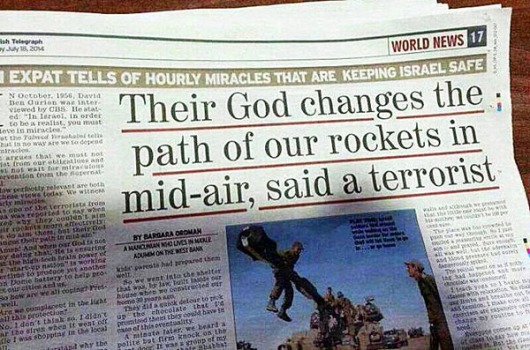 Their God changes the path of our rockets in mid-air