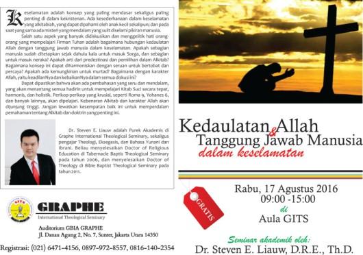 Seminar Kedaulatan Allah