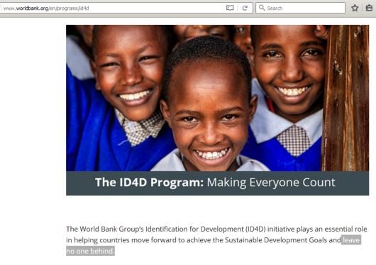 Identification for Development (ID4D)
